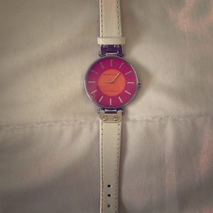 White leather Anne Klein watch
